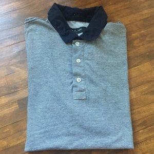 Rag & Bone Men's Striped-Knit Polo Shirt